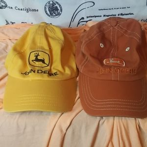 Never worn$7 for both New John Deere hats